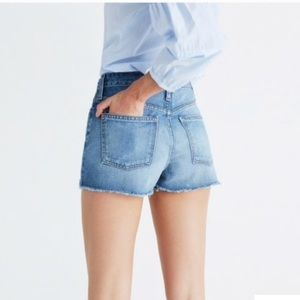 Madewell High Waisted Perfect Jean shorts